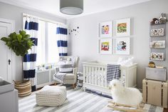 The newborn will be right at home in this calming neutral nursery, but it also has enough visual interest for the parents.
