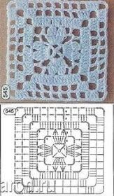 Quick handmade gifts - Such a beautiful crochet pattern for this one . Crochet Mandala Pattern, Crochet Blocks, Granny Square Crochet Pattern, Crochet Diagram, Crochet Stitches Patterns, Crochet Chart, Crochet Squares, Knitting Patterns, Granny Squares