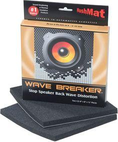 Hushmat Wave Breaker Kit Pair of sound-deadening pads for speaker back waves at Crutchfield Speaker Kits, Wireless Speakers, Bluetooth, Subwoofer Box, Car Audio Systems, Car Sounds, Rockford Fosgate, Car Amplifier, Diy Car