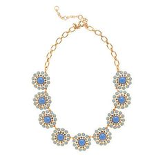 Crystal Circle Necklace by J. Crew