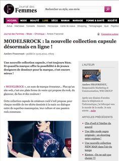 """Modelsrock on """"Le Journal des Femmes"""""""