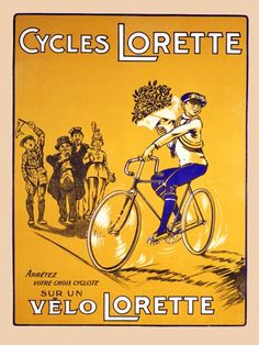 """""""Lorette"""" bicycle poster"""