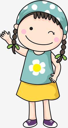 Cute Little Drawings, Art Drawings For Kids, Drawing For Kids, Cartoon Drawings, Easy Drawings, Animal Drawings, Art For Kids, Cute Cartoon Girl, Cartoon Kids