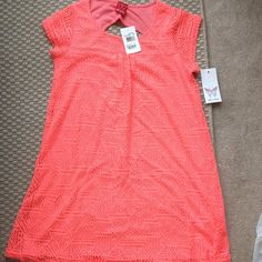 NWT Ella Moss hot pink dress size 14 youth Super cute Ella Moss new with tags never been worn hot pink dress size 14 youth/tween cut out back detailing a small minor repair is shown in pic! No holes stains or signs of wear! Ella Moss Dresses
