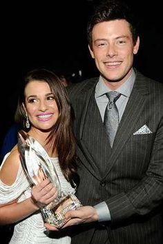"""Awwww! Rachel and Finn """"du-et"""" in real life! ;-)"""