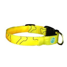 Smarthome.com: Lava Electronics LC-9 Y M QPets LED Safety Dog Collar for Medium Dogs, Yellow