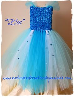 Elsa Tutu Dress  From the Disney movie by EnchantedbyMelanie, $90.00