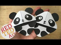Panda Bear Bookmark Corner - Red Ted Art's Blog