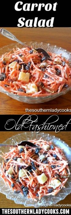 CARROT SALAD - A CLASSIC - The Southern Lady Cooks