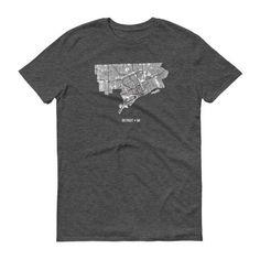 Detroit Shirt Detroit Map Detroit MI Detroit TShirt