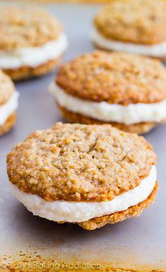 Copycat Little Debbie Oatmeal Cream Pies by sallysbakingaddiction.com. They even taste better than the originals!