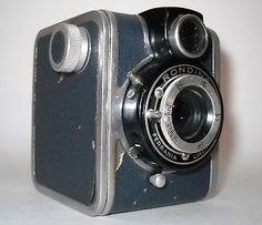 RARE Art Deco Blue Ferrania Rondine Box Camera 1948 Made in Italy   eBay