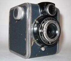 RARE Art Deco Blue Ferrania Rondine Box Camera 1948 Made in Italy | eBay