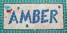 Amber Name Plaque
