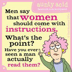 Aunty Acid's TOP TEN hilarious thoughts on MEN