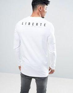 ASOS Longline Muscle Long Sleeve T-Shirt With Liberte Back Print