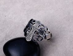 Stainless Steel Ring big size Rings for men High Polishing Europe style fashion jewelry free shipment Full size 8, 9, 10, 11,12 * gothic jewelry, gothic rings, gothic jewelry rings, gothic accessories, gothic accessories jewellery, gothic jewelry & accessories