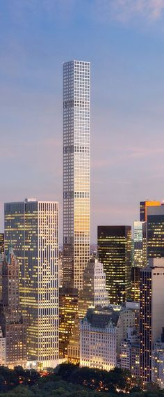 432 Park Avenue Tower, New York City designed by Rafael Vinoly Architects and SLCE Architects :: 85 floors, height 427m :: under construction