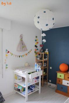 décoration chambre enfant bébé garçon vert anis turquoise blanc ...