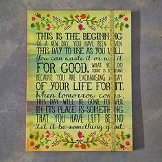 """200 page journal features """"This is the beginning"""" inspirational saying. Journal features lined paper, an inside pocket, and gold elastic closure. Love Natural, Natural Life, Life Journal, Hostess Gifts, Party Favors, Birthday Gifts, Unique Gifts, Candles, Journals"""