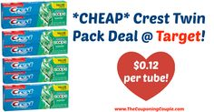 Awesome deal on toothpaste! *CHEAP* Crest Twin Pack Deal @ Target!  Click the link below to get all of the details ► http://www.thecouponingcouple.com/cheap-crest-twin-pack-deal-target/ #Coupons #Couponing #CouponCommunity  Visit us at http://www.thecouponingcouple.com for more great posts!