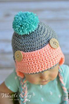Baby Crochet Trapper Hat - Free Crochet Pattern c5944fdb5009