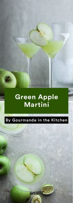 2. Green Apple Martini #apple #cocktails http://greatist.com/eat/apple-cocktail-recipes