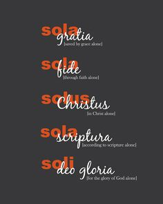 The Five Solas Art Print  Reformation Art  by SlightlySprightly, $16.00