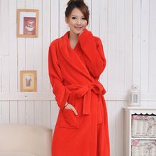 Red coral fleece robe women bathrobe flannel bathrobe 38dc58fa1