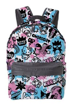 Sanrio Hello Kitty Characters Backpack - Popup - Polyester - Outside  1  Zipper pockets - 702e536b40459