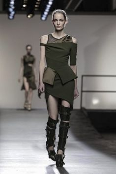 Spats still in? OK with me!  Prabal Gurung Fall Winter Ready To Wear 2013 New York.
