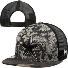 New Era Dallas Cowboys 9FIFTY Tropical Camo Snapback Adjustable Hat - Black  Dallas Cowboys Outfits 2ef02bb8af9