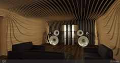 Listening rooms - room treatment Kaiser acoustics germany. High quality Kawero speakers.
