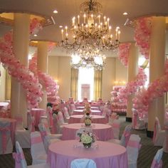Pink wedding! love it! Perfect for a sweet 16 or quinceanera. #bodas #fiestas…