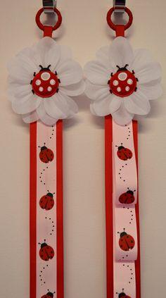 Matching Ladybug Headband Holder & Hair Bow Holder