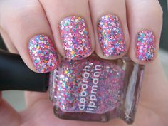 Deborah Lippmann- Candy Shop Glitter Pink. I love this glitter polish!