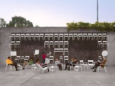 Image 7 of 16 from gallery of AIA California Council's 2012 Design Award Recipients. Oakland Museum of California Event Space, Oakland / Jensen Architects - Image courtesy of Cesar Rubio. Urban Landscape, Landscape Design, Design D'espace Public, Oakland Museum, Urban Intervention, Interactive Walls, Community Space, Parking Design, Urban Furniture