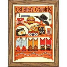 God Bless Cowgirls Counted Cross-Stitch Kit - Herrschners Cowboy And Cowgirl, Counted Cross Stitch Kits, Cowgirls, Counting, Blessed, God, Baseball Cards, Dios, Allah
