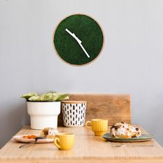 This moss clock is a unique, handcrafted decor item that is sure to wow anyone who comes across it. Made with real preserved moss, it lasts years with no maintenance needed. Visit our website for more info on our moss art. Natural Interior, Modern Interior, Moss Art, Flower Letters, Unique Wall Art, How To Preserve Flowers, Botanical Art, Your Space, Preserves