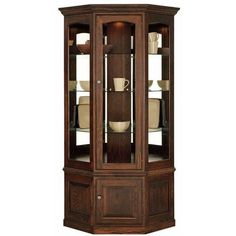 Pennsylvania Amish Built Fine Furniture Drumore Manor Curio Cabinets from Jonathan Smucker Woodworking Brown Furniture, Fine Furniture, Cheap Furniture, Painted Furniture, Furniture Dolly, Furniture Online, Corner Display Cabinet, Corner Curio, Crockery Cabinet