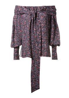 MAGDA BUTRYM Magda Butrym Mons Floral Printed Silk Top. #magdabutrym #cloth #
