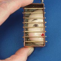 Caged Doll Head  by *bugatha1  Artisan Crafts / Jewelry©2007-2012 *bugatha1