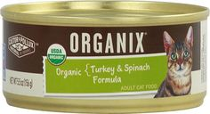 Castor and Pollux Organix Adult Cat Food Canned Turkey and Spinach -- 5.5 oz(PACKOF3) -- More info could be found at the image url. (This is an affiliate link and I receive a commission for the sales)