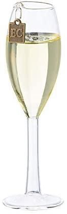 Champagne Wishes Glass Flute Christmas Ornament