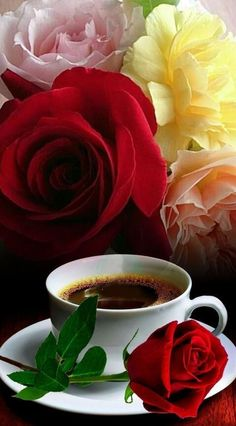 Good Morning Tea, Morning Rose, Easy Like Sunday Morning, Good Morning Flowers, Good Morning Images, Coffee Gif, Coffee Love, Love Wallpaper Download, Happy Sunday Quotes