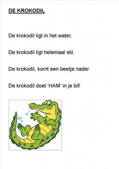 Thema jungle / oerwoud: krokodil gedicht