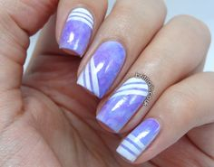 Brit Nails: Striped Tie-Dye