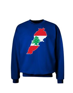 TooLoud Lebanon Flag Silhouette Adult Dark Sweatshirt