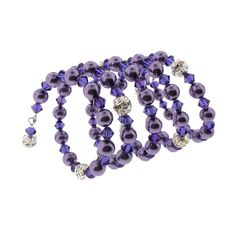 Love the color - Purple Velvet and Wisteria.  Made with Swarovski crystal and Czech faux pearl.