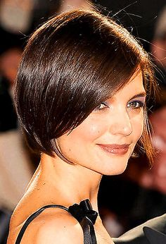Katie Holmes' girly bob with swooping fringe